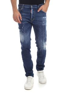 Dsquared2 - Stained-effect blue Cool Guy jeans