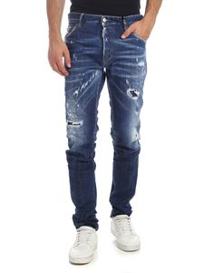Dsquared2 - Destroyed-effect Cool Guy blue jeans