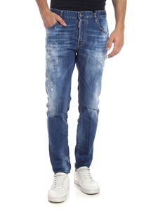 Dsquared2 - Skater jeans in blue with destroyed effect