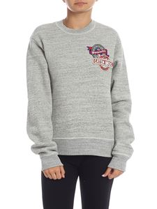 Dsquared2 - Gray sweatshirt with decorated logo patch