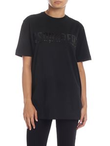Dsquared2 - Black t-shirt with sequin logo