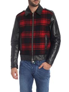 Dsquared2 - Black jacket with tartan insert