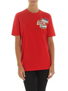 Dsquared2 - T-shirt rossa con patch logo