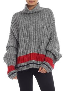 Dsquared2 - Gray melange sweater with contrasting detail