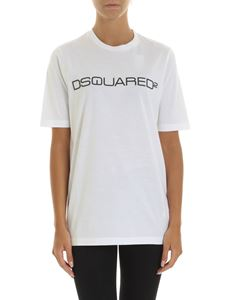 Dsquared2 - White T-shirt with 3D effect logo