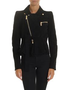Dsquared2 - Black suede jacket with ribbon