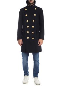 Dsquared2 - Dark blue double-breasted coat