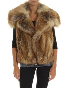 Dsquared2 - Eco-fur in shades of brown with lapels
