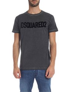 Dsquared2 - Anthracite t-shirt with faded effect