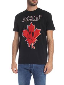 Dsquared2 - Black T-shirt with Acid2 print
