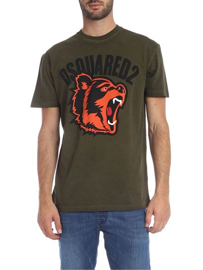 Details about  /Dsquared2 Logo Mouse Animal T-Shirt S74GD0654