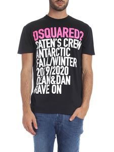 Dsquared2 - Black T-shirt with lettering print