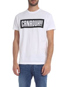 Dsquared2 - White T-shirt with CANADUH!! print