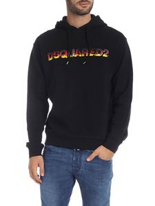 Dsquared2 - Black sweatshirt with flames effect logo