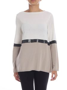 Kangra Cashmere - Colorblock pullover with sequins
