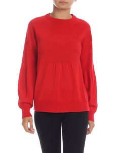 Kangra Cashmere - Red sweater with curled detail