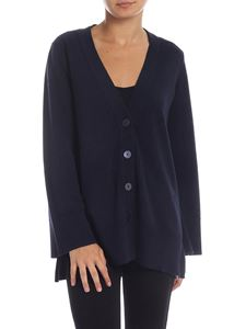 Kangra Cashmere - Blue cardigan with vents