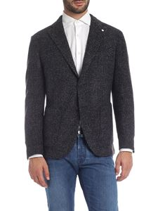 L.B.M. 1911 - Houndstooth  jacket in blue