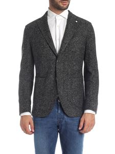L.B.M. 1911 - Jacket in black and grey textured fabric