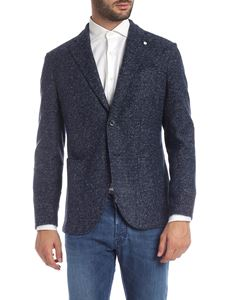 L.B.M. 1911 - Blue and grey woven jacket