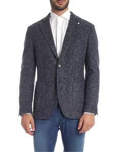 L.B.M. 1911 - Blue and gray woven jacket