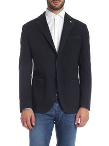 L.B.M. 1911 - Woven fabric jacket in blue