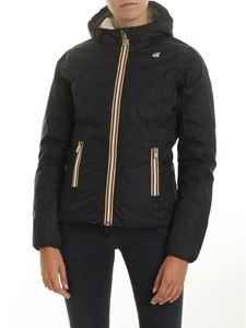 K-way - Lily doubleface down jacket in black