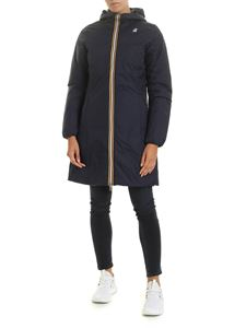 K-way - Charlene double-faced down jacket in blue