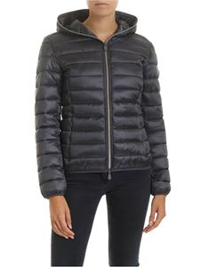 Save the duck - Down jacket in grey technical fabric