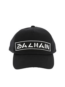 Balmain - Balmain embroidery cap in black and white