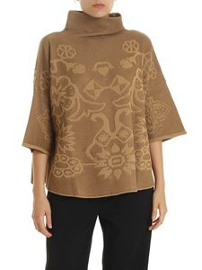 Etro - Camel-colored boxy pullover with embroidery