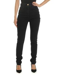 Balmain - Black skinny jeans with zip