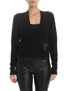 N° 21 - Black cardigan with micro sequins embroidery