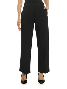 Red Valentino - Black trousers with sartorial fold