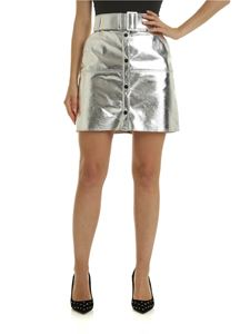 MSGM - Metallic skirt with belt and buttons