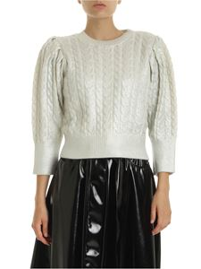MSGM - Cream-colored pullover with silver coating