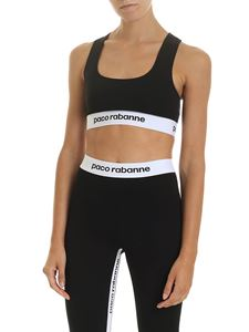 Paco Rabanne - Black sports top with branded elastic