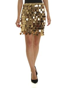 Paco Rabanne - Golden maxi-sequined skirt