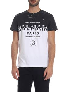 Balmain - Thing Have To Change printed T-shirt in white