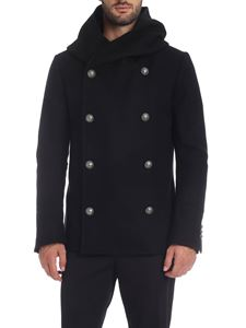 Balmain - Double-breasted coat in black