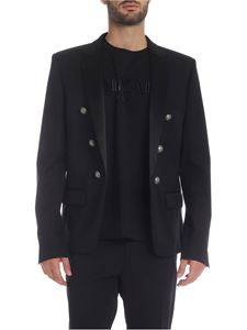 Balmain - Lined jacket in black wool
