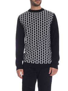 Balmain - Black pullover with Balmain monogram