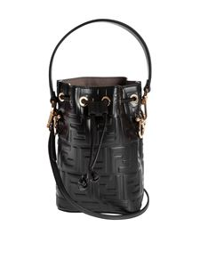 Fendi - Mon Tresor minibag with raised FF pattern in black