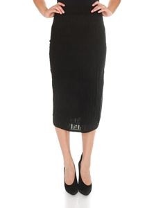 Fendi - Straight-cut longuette skirt in black