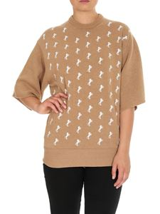 Chloé - Horse embroidered pullover in Coffee Brown color