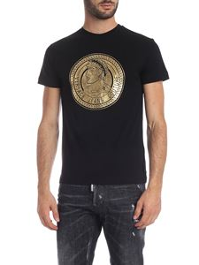 Versace Jeans - Black T-shirt with medallion print