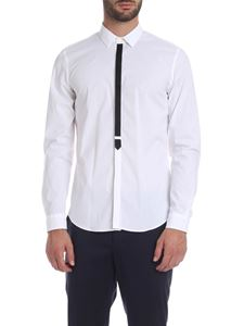 Dondup - White shirt with satin detail
