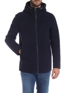 Herno - Dark blue jacket with hood