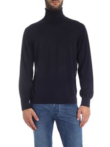Z Zegna - Blue wool turtleneck
