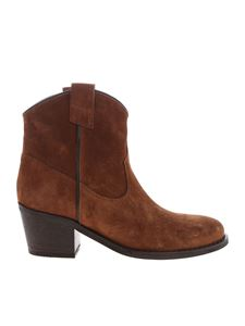 Via Roma 15 - Texan boots in tan-colored suede